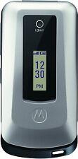 NEW Motorola W408G - Silver (TracFone) Prepaid Basic Flip Cell Phone