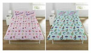Unicorn Kingdom Duvet Cover and Pillowcase Kids Pink Star Bedding Set