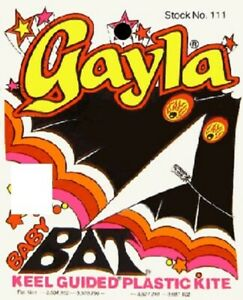 "GAYLA   42""x22"" Baby Bat Delta Wing Kite GAY111-NEW"