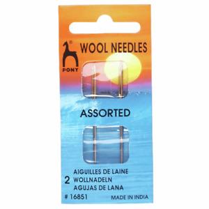 Pony Hand Sewing Needles: Wool: Gold Eye P16851