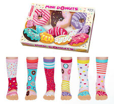 UNITED ODDSOCKS GIRLS MINI DONUT ODD SOCKS FOR GIRLS UK SIZE 12 - 5.5 GIFT BOXED