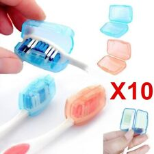 10PCS Toothbrush Head Cover Case Cap Travel Hike Camping Brush Cleaner