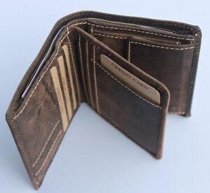 Geldbörse Naturleder RFID/NFC Geldbeutel Portmonai Kombibörse Voll-Rindleder