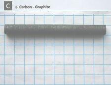 11,50 gram 99,95% carbon graphite rod 100x10mm element 6 sample