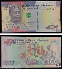 Nigeria Commemorative Banknote 100 Naira 2014 Unc