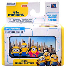 """Despicable Me Minions Movie NYC Minions 2"""" Micro Playset New!"""