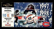 1997 Colorado Avalanche vs Montreal Canadiens Molson Centre NHL Hockey Ticket