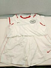 Nike Soccer Shirt and Shorts White & Red Stripes #90 (Size Xl & L) New with Tags