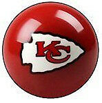 Kansas City Chiefs Shift Knob Billiard Pool Ball Threaded Gear Shifter NFL
