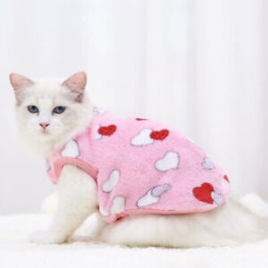 Winter Warm Outfit for Cat Clothes Kitten Jacket Coat Soft Kitty Jumper XXS to L