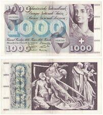 More details for switzerland 1000 franken banknote (1961) p.52e - vf+.