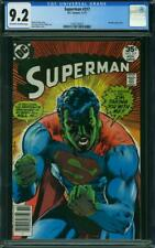 Superman 317 CGC 9.2 -- 1977 -- Neal Adams Green Superman. Metallo #1392192022