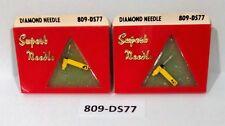 ( 2 PACK ) NEW DIAMOND NEEDLE STYLUS 809-DS77 SONOTONE N21T, N22T, N35T