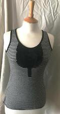 Lades racer back navy and white striped bib detail vest top by New Look 8
