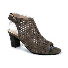 Unisa Gaila Tan Brown Faux Leather Heeled Slingback Open Toe Sandals Womens 7.5M
