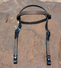 NEW Ride-Tie Snap Add-On SW Overlay Black Beta Biothane halter bridle headstall
