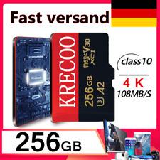 256GB TF-Karte Flash TF Speicherkarten C10 4K Für Telefon Kameras + Adapter Sets