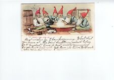 Won't You Join Us Christmas Elves Undivided Back Postcard 1907 Fancy Cancel
