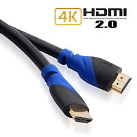 HDMI Cable 25ft - HDMI 2.0 (4K x2K @60Hz) Ready - 28AWG Cord - High Speed 18Gbps