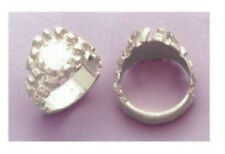 Mens Blank Ring Shank Ring Setting in Solid Sterling Silver Size 10.5