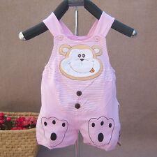 Baby Mädchen Baumwolle Knielange Affe Sommer Latzhose 6-9 Monate