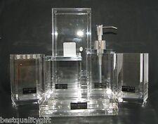 Balfour,Bino 6pc Set Acrylique Transparent Distributeur de Savon + Plat + Verre