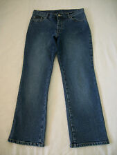 WMNS 8P STRETCH THICK SOFT BLUE JEANS STRAIGHT LEG/ CLASSIC WAIST by NY & CO.