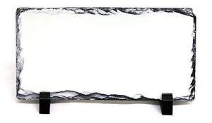 12.5x22CM Rectangle Sublimation Rock Ardoise Imprimable Blanc Photo Heat Presse