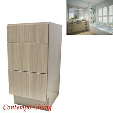 "15"" European Style 3 Drawers Bathroom Vanity Birch Wood Pattern in Plywood"