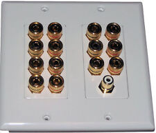 Speaker Wall Plate 14 Post for 7 Spks + SUB Dolby 7.1