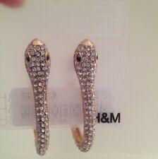 H & M Goldern Sparking Snake Earrings
