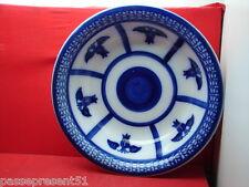 Superbe ancienne importante cuvette, opaque de sarreguemines, bleu nuit