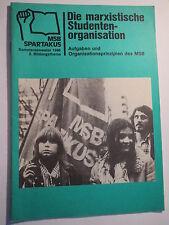 Marxistischer Studentenbund - MSB Spartakus - marxistische Studentenorganisation