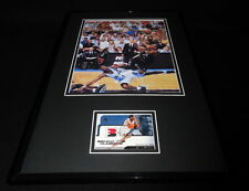 Allen Iverson Framed 11x17 2 Color Game Used Jersey & Photo Display 76ers