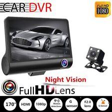"Full HD 1080P 4"" 170° Night Vision Dual Lens Car DVR + Video Camera Recorder JW"