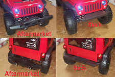 Aftermarket Front & Rear Bumpers for Axial Scx10 Ii 2017 Jeep Wrangler / Rubicon