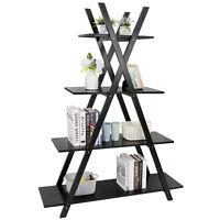 "Convenience 4 Tier Concepts Oxford ""A"" Frame Bookshelf in Espresso Black Indoor"