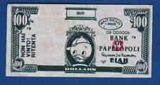 Walt Disney, 100 Dollars Elah / Bank of Paperopoli !