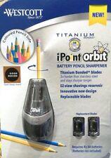 Westcott iPoint Orbit Battery Pencil Sharpener + 2 Replacement Blades