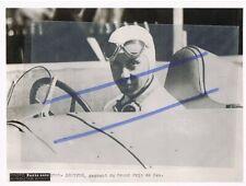 René DREYFUS photo originale 1er GP Pau 1938 sur DELAHAYE