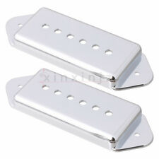2PCS P-90 P90 Pickup Dogear Cover 50mm+52mm for Gibson Silver