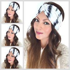 Summer Tie Dye Scrunch Style Turban headband Women's Wide Head Wrap Hair Band