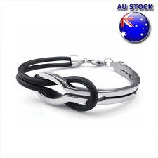 Silvertone Gymnast in Heart Faith Infinity Toggle Chain Bracelet 8