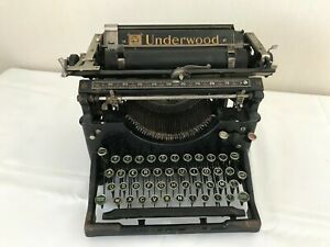 Machine à écrire UNDERWOOD MODEL 5 - Septembre 1917 - VINTAGE DECO LOFT