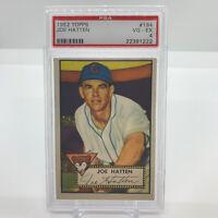 1952 Topps Baseball Joe Hatten #194 PSA 4 VG EX Chicago Cubs Decent Centering