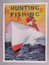 Hunting & Fishing Magazine - January, 1935 - COVER ONLY ~~ William Eaton art