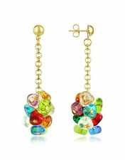 ANTICA MURRINA Rubik Murano Glass Earrings Multi Color Made in Italy RARE!!!