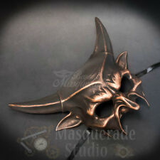 Devil Horns Satanic Demon God Costume Prop Halloween Masquerade Mask [Copper]
