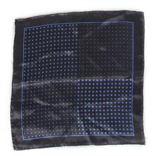 Club Room Men's Graphite New Dot Silk Pocket Square