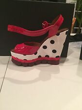 New with Box DOLCE & GABBANA Printed Wedge Sandals Size 40 MSRP $1220 SOLD OUT!